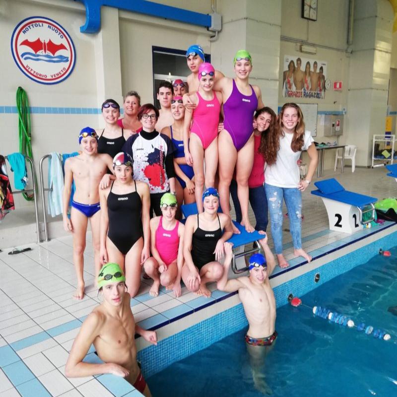 Silvia Rizzi e la Nottoli Nuoto 74 di Vittorio Veneto