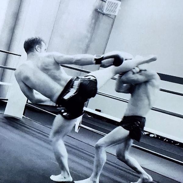 Mattia Costella durante un combattimento
