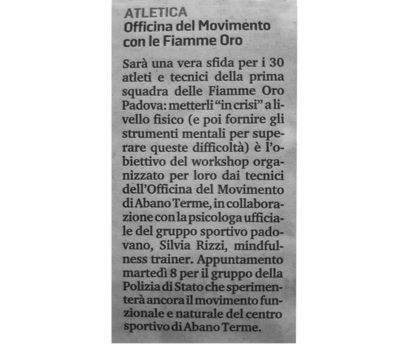 Articolo atletica-officina-del-movimento-con-le-fiamme-oro